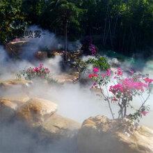 福建农家乐人造雾设备楼盘喷雾造景设备高压雾化雾森喷雾系统