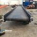 廢舊塑料分揀平臺平面皮帶傳輸設備斜坡平臺輸送機定制
