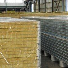 彩钢岩棉夹芯板-彩钢瓦价格-岩棉彩钢夹芯板-活动板房厂家图片