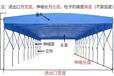 定制大型推拉倉庫帳篷伸縮雨棚活動收縮雨篷夜宵燒烤蓬移動遮陽蓬