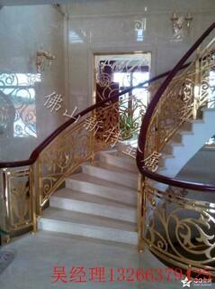 岳阳小区庭院铝艺护栏铝雕花护栏镜面K金优质订做图片4