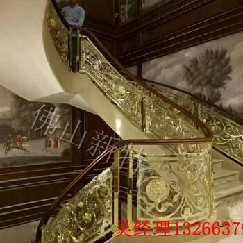 上海铜楼梯铜艺楼梯扶手金属护栏精品之最