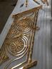 铝艺电镀k金楼梯护栏铝板雕花五星酒店楼梯护栏