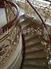 铜雕土豪金楼梯护栏精美工艺雕花护栏