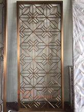 经典仿古屏风酒店铝板雕刻落地铝艺屏风今日报价图片