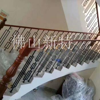 铝板雕刻护栏别墅复式楼梯旋转楼梯铝扶手