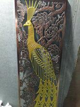 鋁藝客廳裝飾屏風鋁雕花鏤空金色屏風隔斷訂做圖片