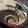 铝板雕刻艺术雕花k金楼梯护栏铝合金楼梯定做