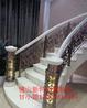 兰州酒店艺术楼梯安装铝合金雕花楼梯护栏工程图片