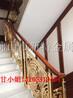 铝合金装饰别墅楼梯雕刻郁金香K金铝艺护栏的结构