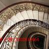 工程售楼部装饰铜楼梯护栏铜雕花弧形楼梯扶手供应