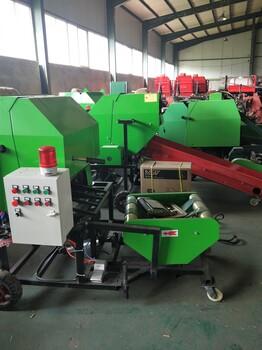 養殖飼料青儲打捆包膜機干草秸稈粉碎打捆機蘆葦方捆機