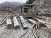 菱鎂礦石開采破碎錘打不動,用大型液壓劈裂機--諾必踐