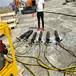 大型机载矿山开石头液压破石机福州施工案例