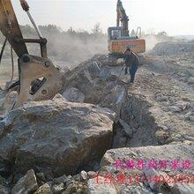 石灰石矿山开采比钩机效率高劈石棒南平图片