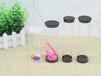 厂家定制PC管透明圆筒包装两头盖黑色塑胶圆通包装厂家直销