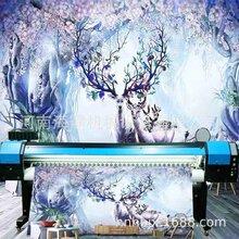 壁画18D打印机3d壁画16d打印机3.2米20D壁纸壁画背景墙uv打印机