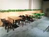白云定制小吃館特色餐桌椅的廠家,廣州餐桌椅廠家