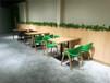 白云鐵藝餐桌椅廠家直銷,廣州茶餐廳餐桌椅圖片