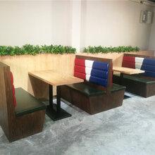 莞城客家菜馆餐桌餐椅定制,东莞菜馆子卡座沙发厂家直销