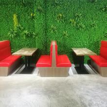 博羅美食餐廳時尚卡座沙發定做,惠州板式卡座沙發價格多少圖片