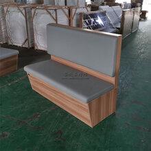 珠海香洲區料理餐廳板式卡座沙發定制,卡座沙發廠家