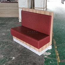 江門蓬江區風味館優質三胺板卡座沙發,板式卡座沙發定做廠