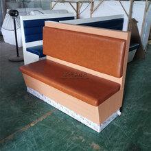 佛山高明美食館單面卡座沙發來尺寸來圖定制