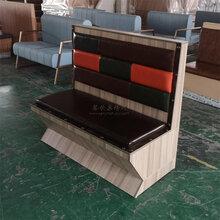 東莞茶山鎮風味餐廳軟包板式卡座沙發定制廠家