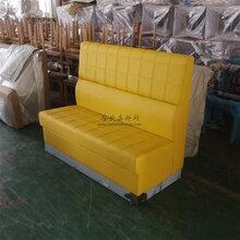 潮州湘橋區甜品店油蠟皮卡座沙發定制,優質卡座沙發廠家