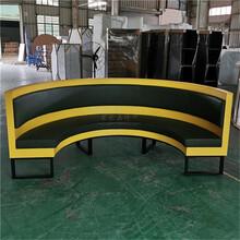 邯郸制造半圆弧形卡座沙发,弧形卡座沙发图片