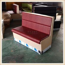 中式快餐厅卡座沙发清远板式餐饮家具图片