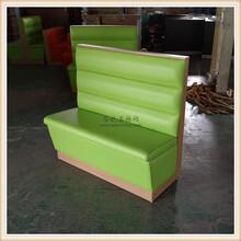 果绿色糖水店卡座沙发化州市甜品店家具图片