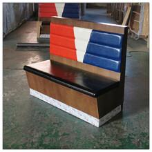 上海定做实木贴皮卡座沙发,贴实木皮卡座沙发图片