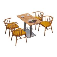 北欧风自助餐厅桌椅图片