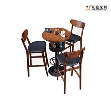丰顺县咖啡厅家具梅州北欧风高脚吧桌椅图片
