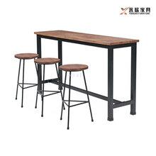 韶关工业风家具乳源县美式奶茶店桌凳图片