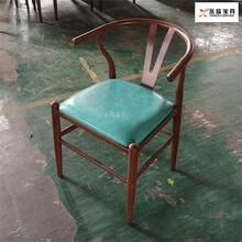 赤峰新款鐵藝木紋轉印椅子價格實惠,鐵藝木紋轉印餐椅圖片