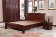 供應木言木語新中式實木家具黃菠蘿木大床中式實木1.8米婚床簡約實木雙人床