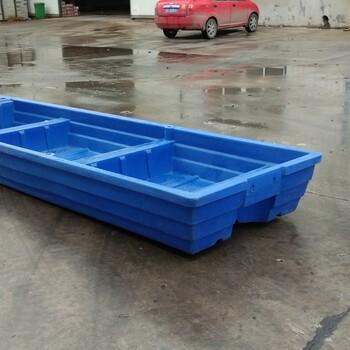 4米塑料船渔船小船加厚冲锋舟养殖钓鱼双层加厚牛筋料钓鱼船观光渔船