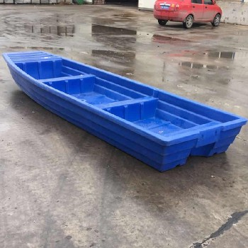 4米渔船冲锋舟塑胶船双层加厚耐腐蚀湖南邵阳