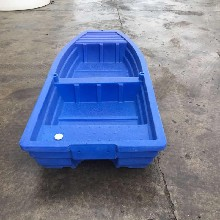 塑料船钓鱼船渔船捕鱼小船橡皮艇冲锋舟加厚pe牛筋塑胶电动船外机2.6米