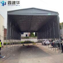 鑫建华活动雨棚定做,无锡镀锌钢管伸缩雨棚尺寸定做图片