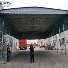 苏州大型移动伸缩雨棚尺寸定做,电动推拉棚厂家图片