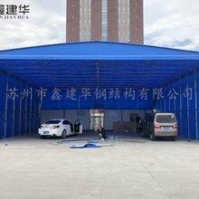 移动仓库棚大型伸缩推拉帐篷汽车停车棚高度推拉篷的推拉方式图片