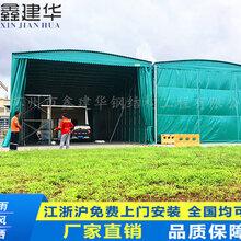 天津市移动仓库雨篷大型伸缩帐篷伸缩雨棚移动推拉蓬活动推拉蓬图片