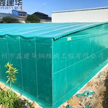 鑫建华大型仓库棚,苏州钢架仓储篷房图片