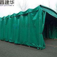 鑫建华电动推拉棚厂家,大型移动伸缩雨棚价格图片
