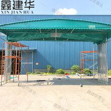 鑫建华电动推拉棚厂家,北京大型伸缩雨棚报价图片