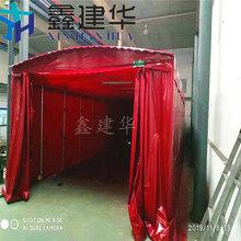 天津移动大排档推拉棚抗压强大,室外大排档遮阳棚图片